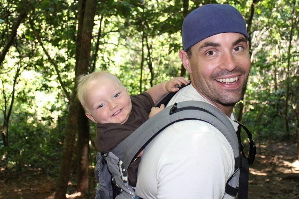 Jasper with my husband Jesse